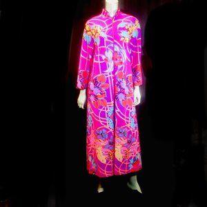 Vtg David Brown Lounger Caftan Robe